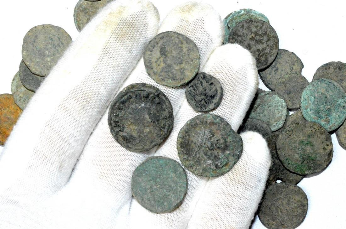 Lot of 50 Premium Quality Roman Coins for Cleaning - 2