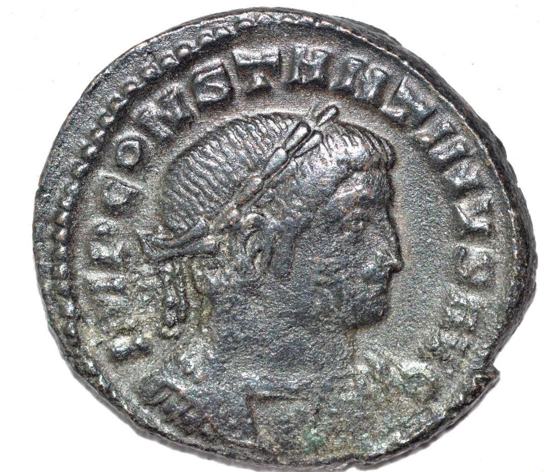 House of Constantine AE Follis, rv. Salus