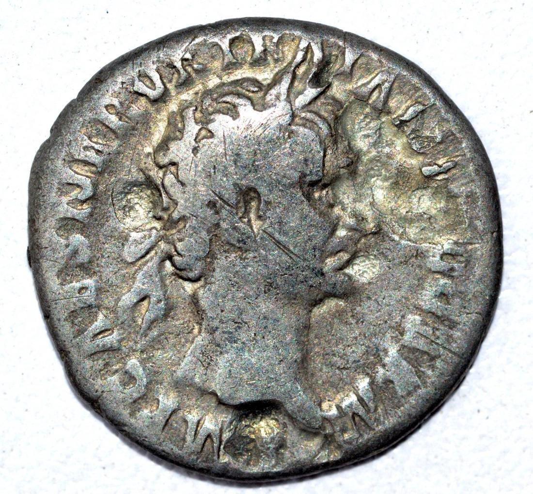 Trajan AR Denarius, rv. Pontifex