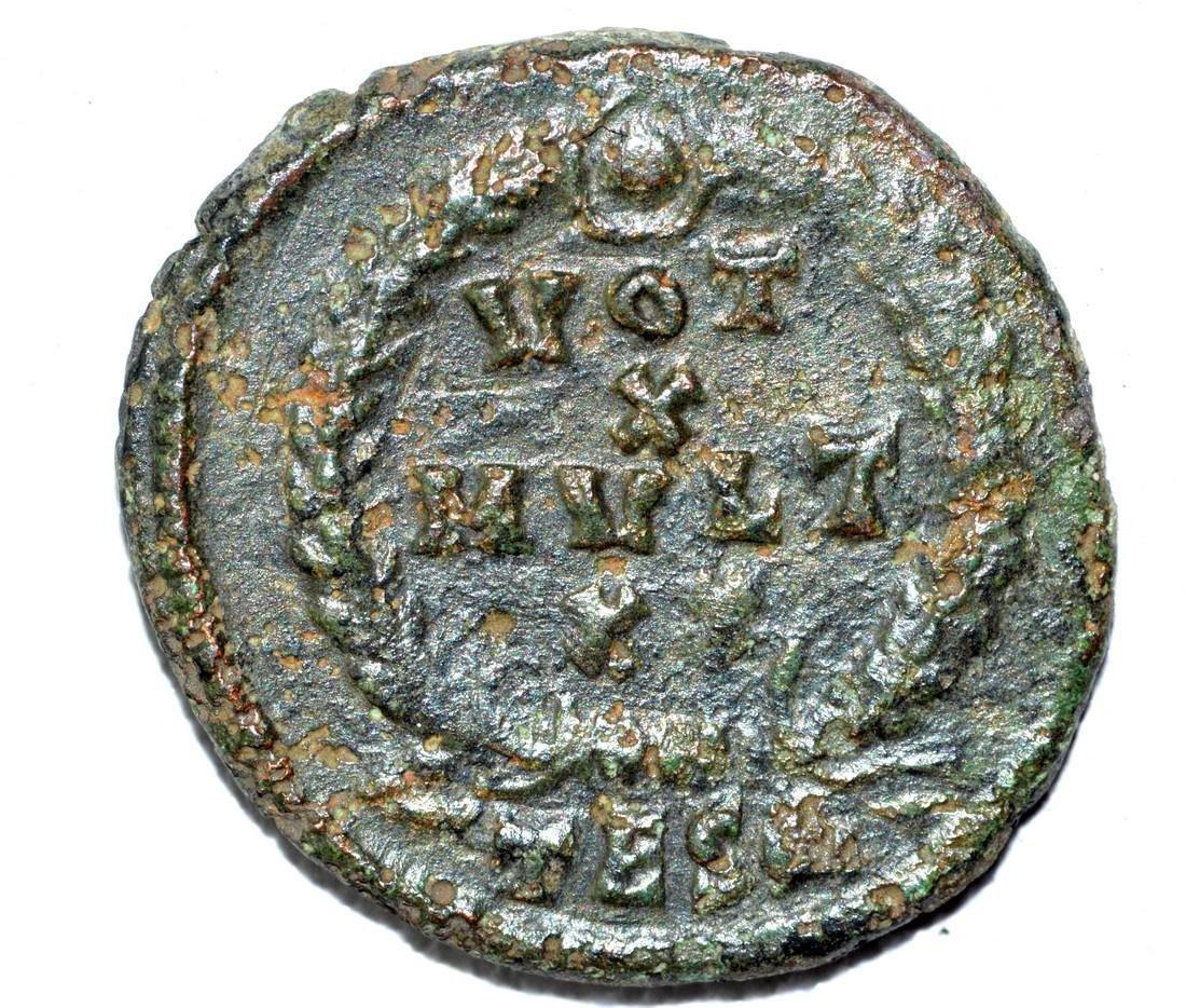 Julian II AE Follis, rv. Laurel Wreath - 2