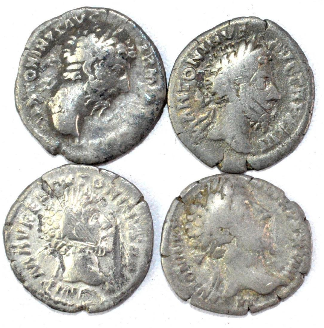 Lot of 4 Roman Imperial Silver Denarii
