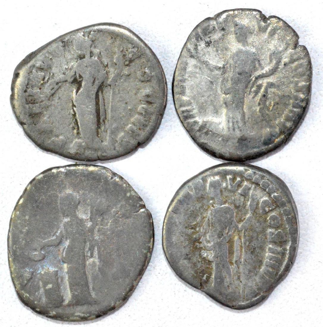 Lot of 4 Roman Imperial Silver Denarii - 2