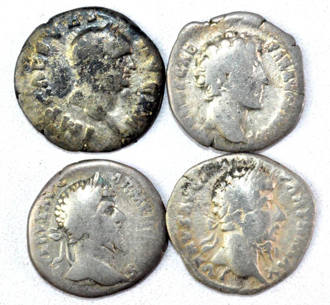 Lot of 4 Roman Imperial Silver Denarii