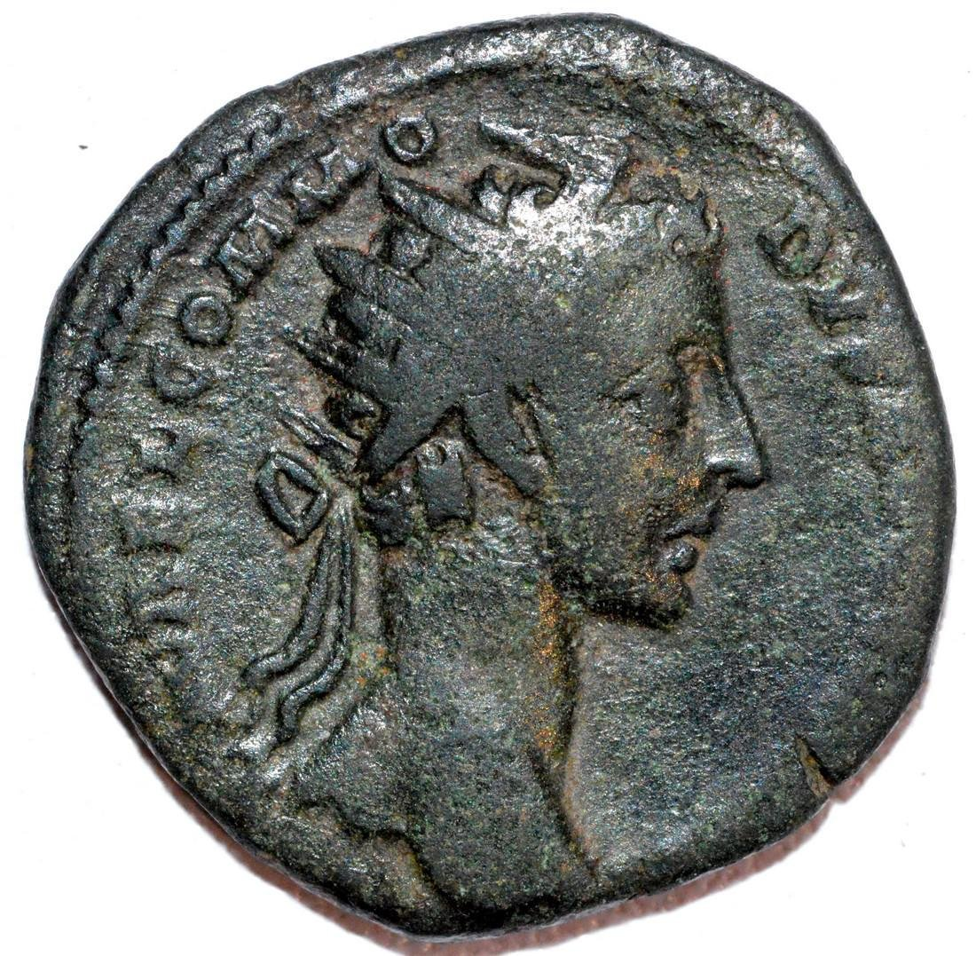 Rare Ancient Roman Bronze Dupondius of Emperor Commodus
