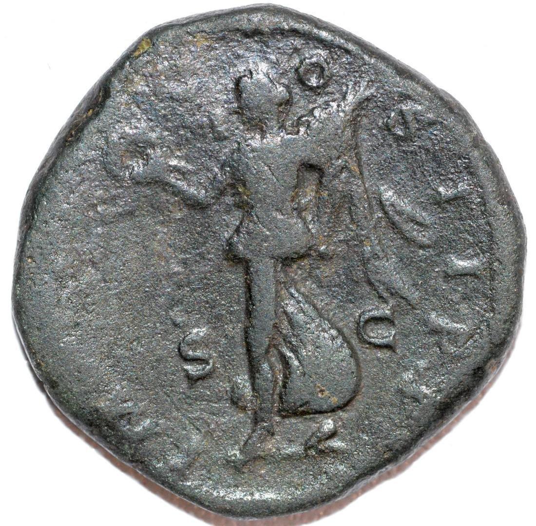 Rare Ancient Roman Bronze Dupondius of Emperor Commodus - 2