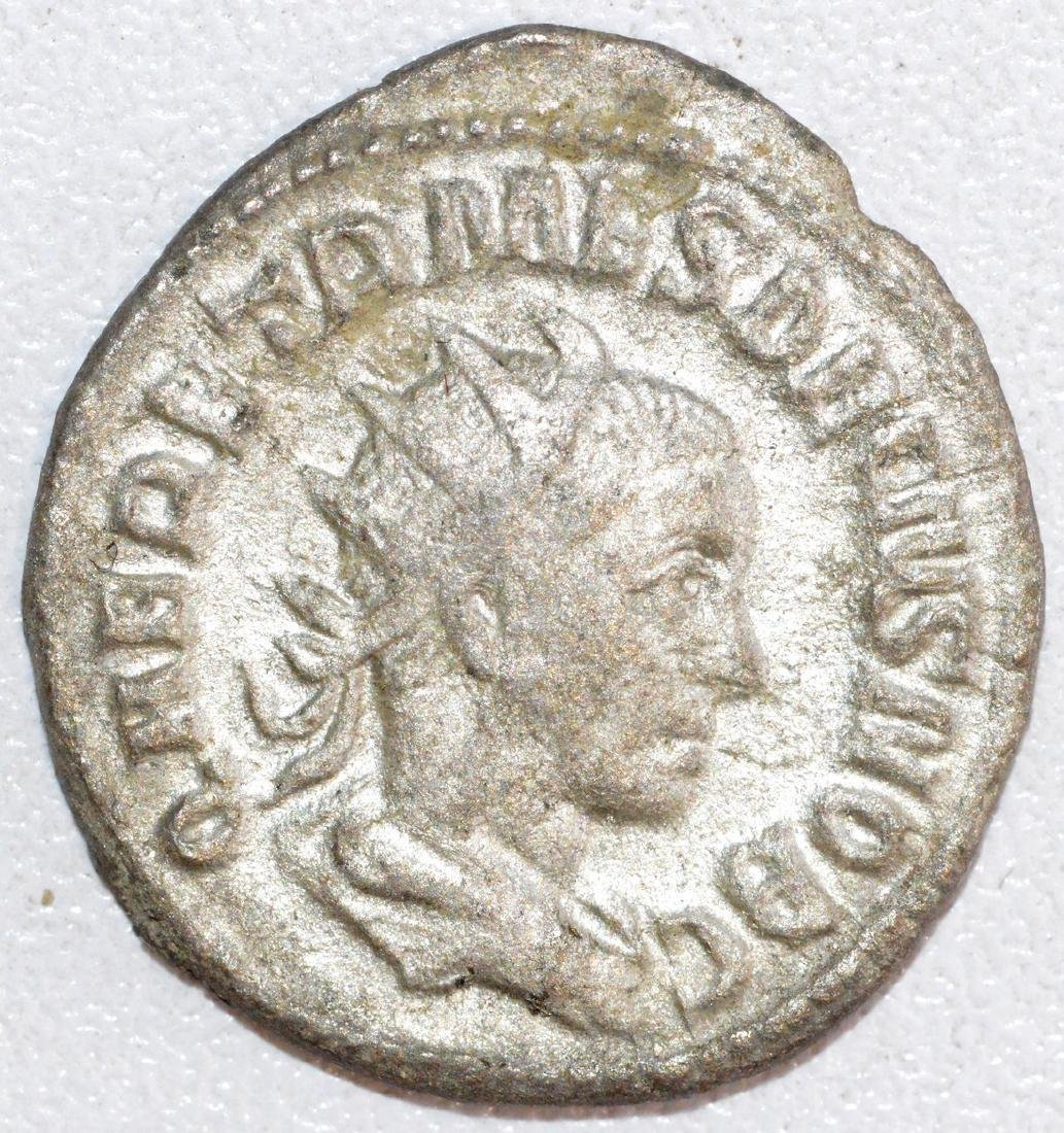 Ancient Roman Silver Antoninianus of Emperor Herennius