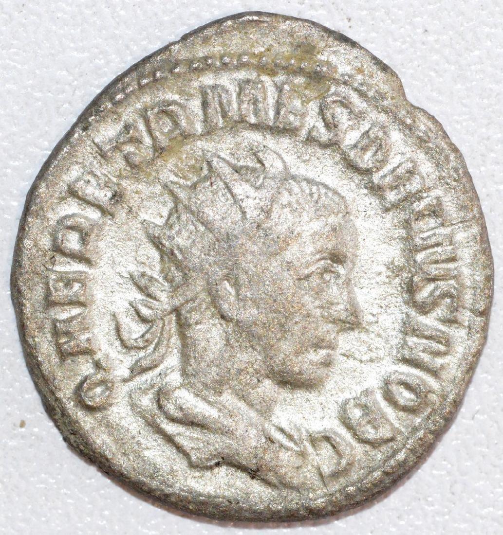Ancient Roman Silver Antoninianus of Emperor Herennius