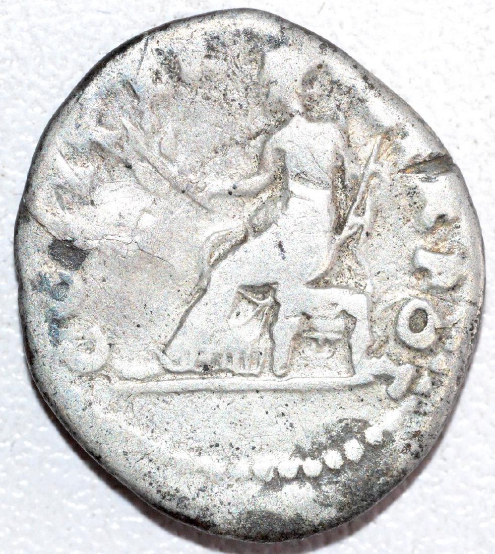 Ancient Roman Silver Denarius of Emperor Vespasian - 2