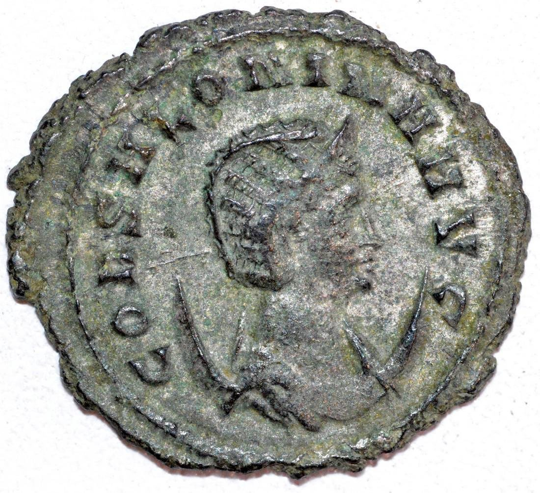 Ancient Roman Copper Antoninianus of Empress Salonina