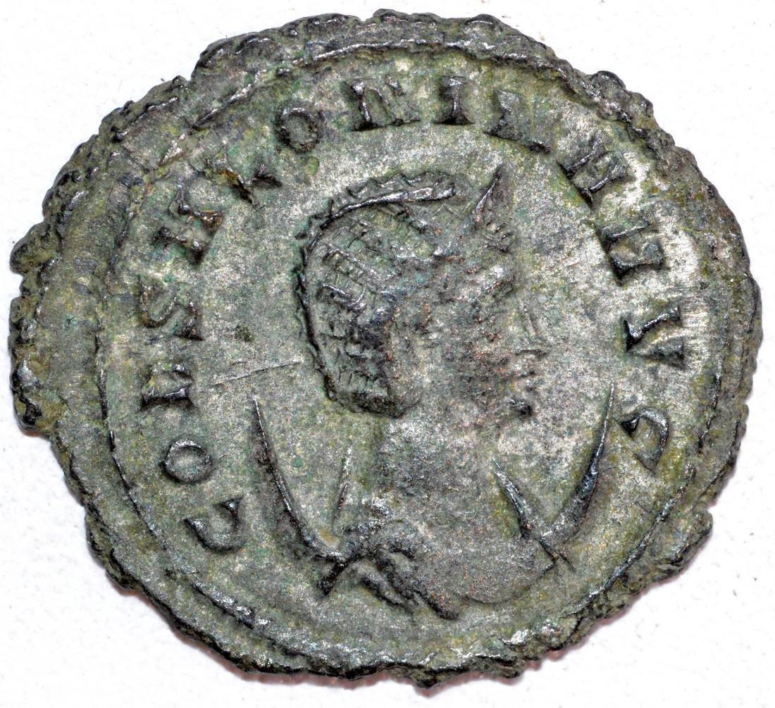 Ancient Roman Copper Antoninianus of Empress Salonina