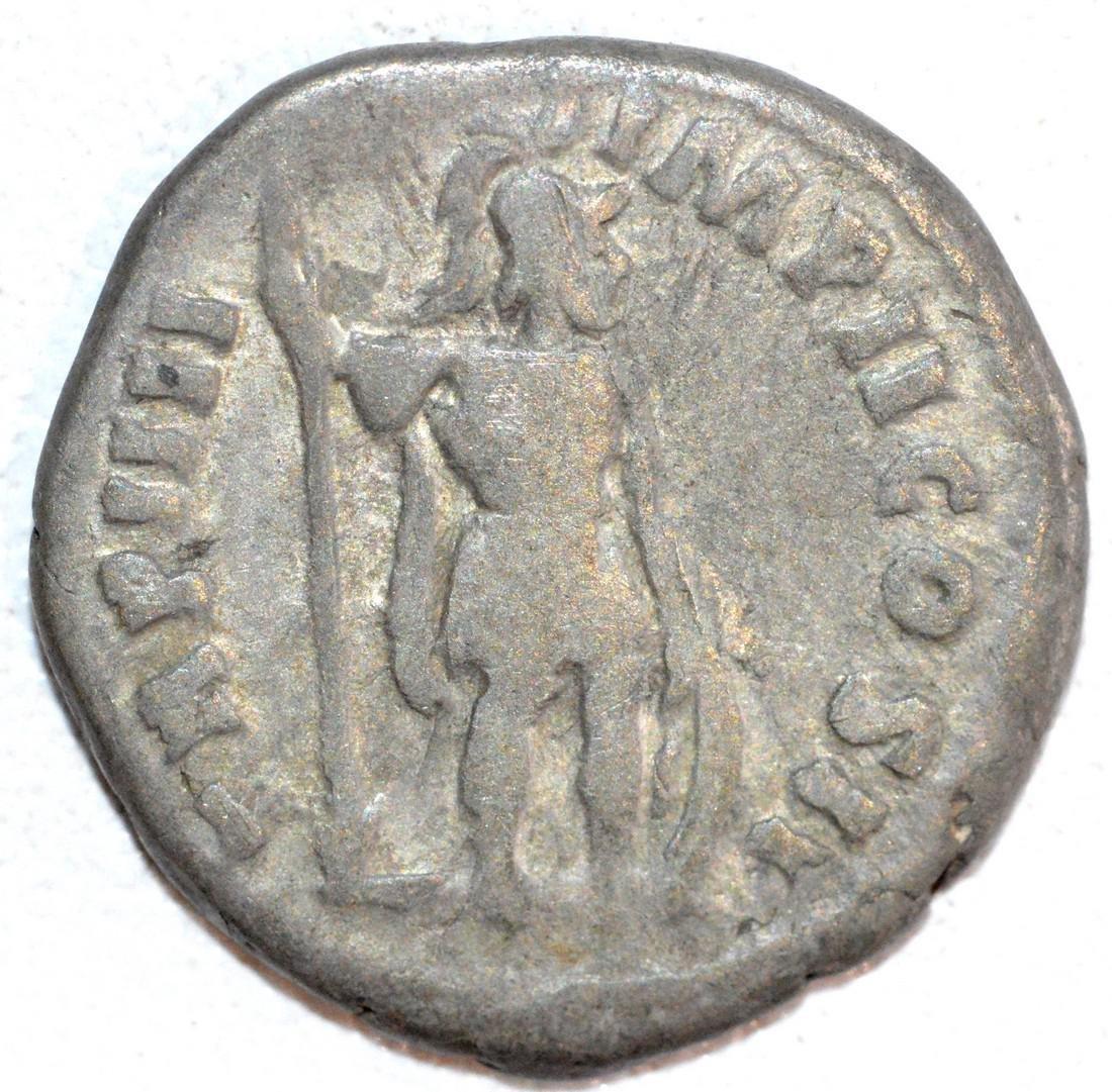 Ancient Roman Silver Denarius of Emperor Lucius Verus. - 2