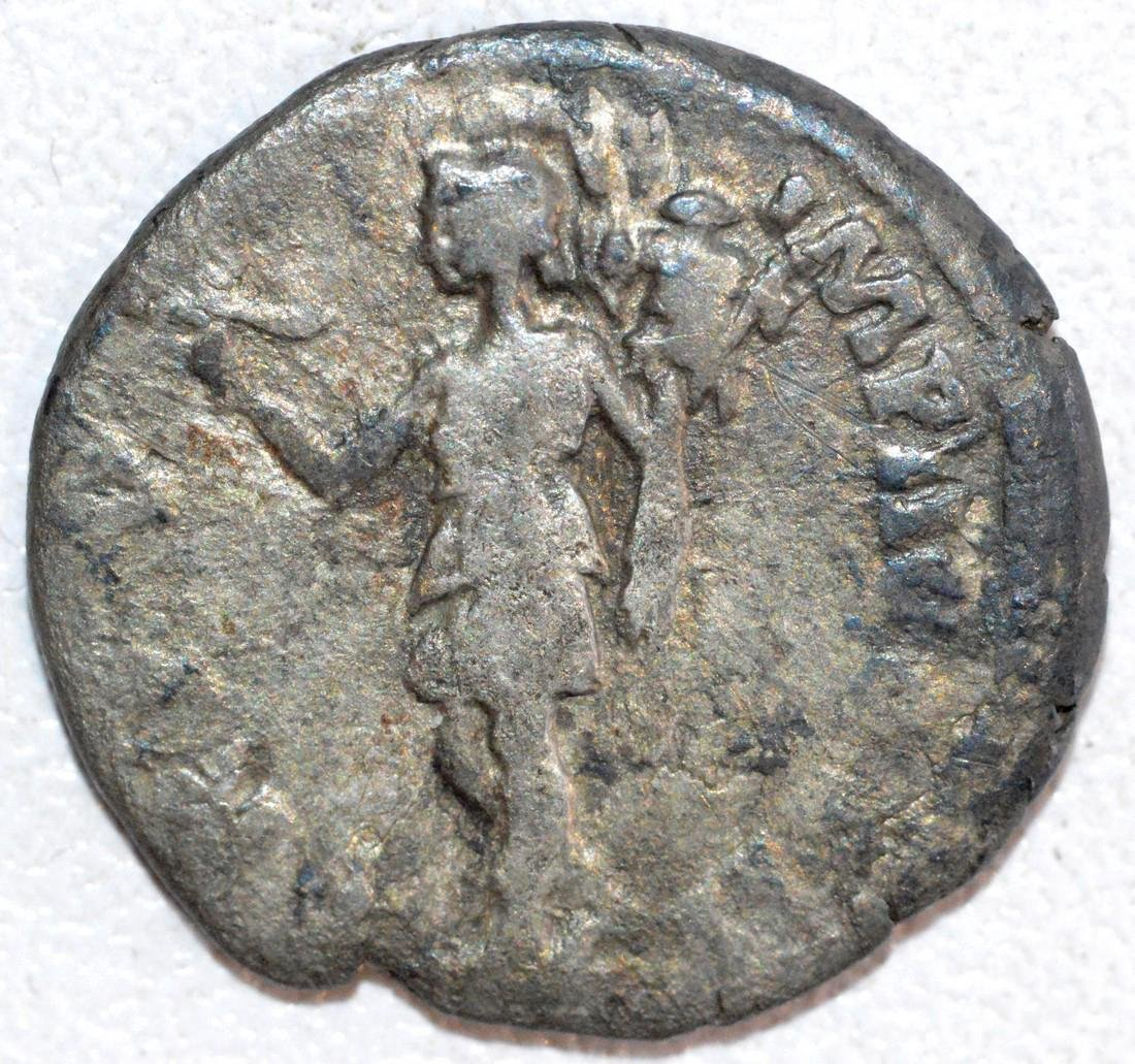 Ancient Roman Silver Denarius of Emperor Lucius Verus - 2