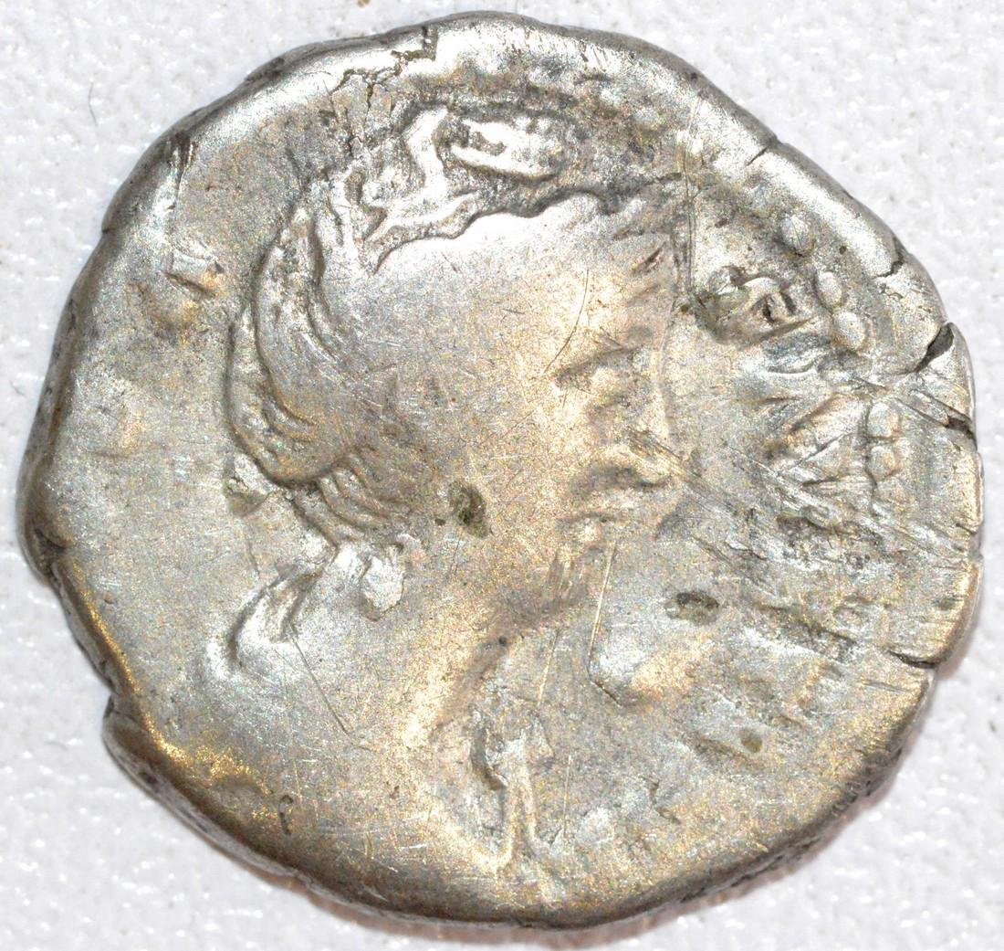 Ancient Roman Silver Denarius of Empress Faustina