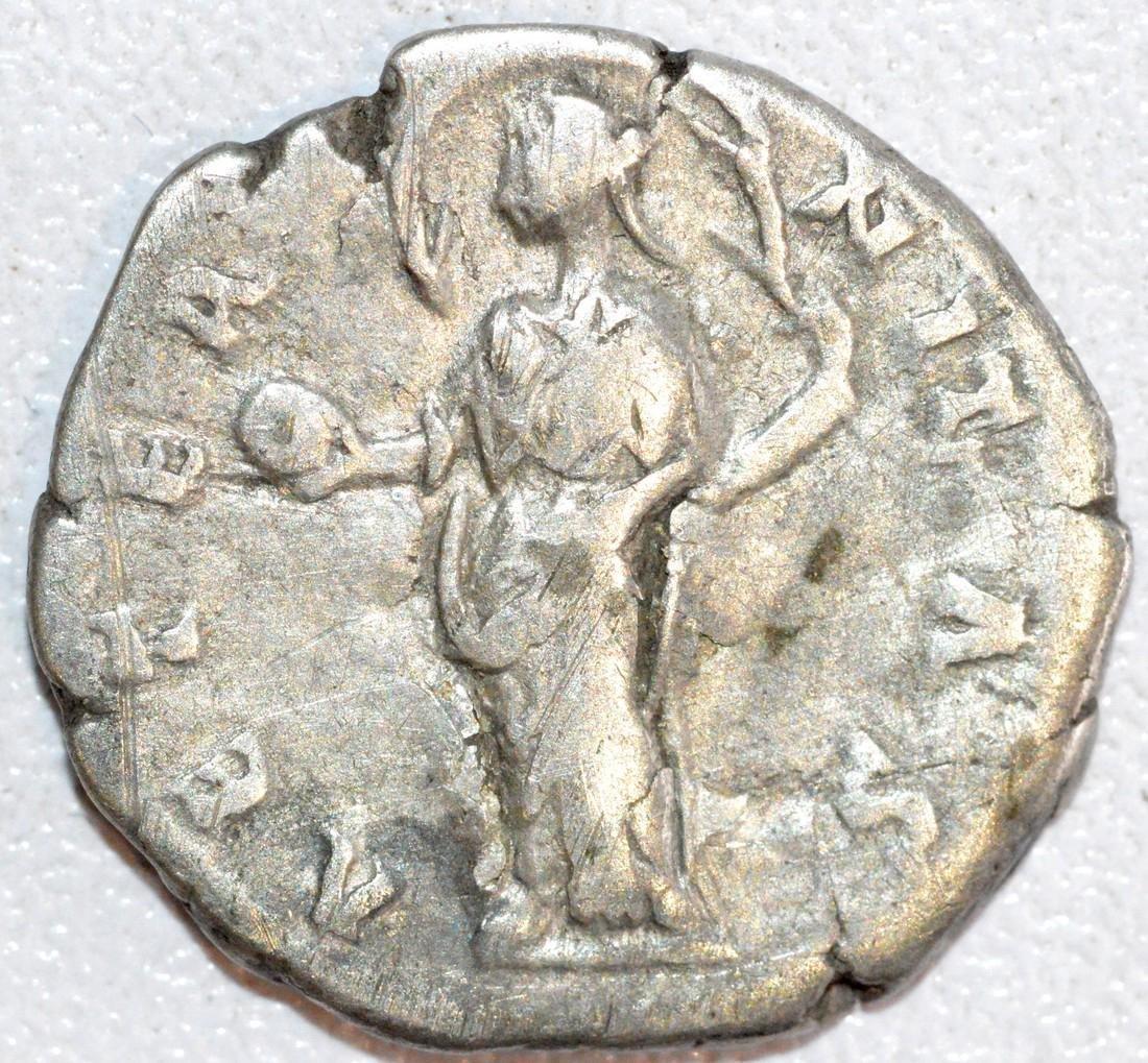 Ancient Roman Silver Denarius of Empress Faustina - 2