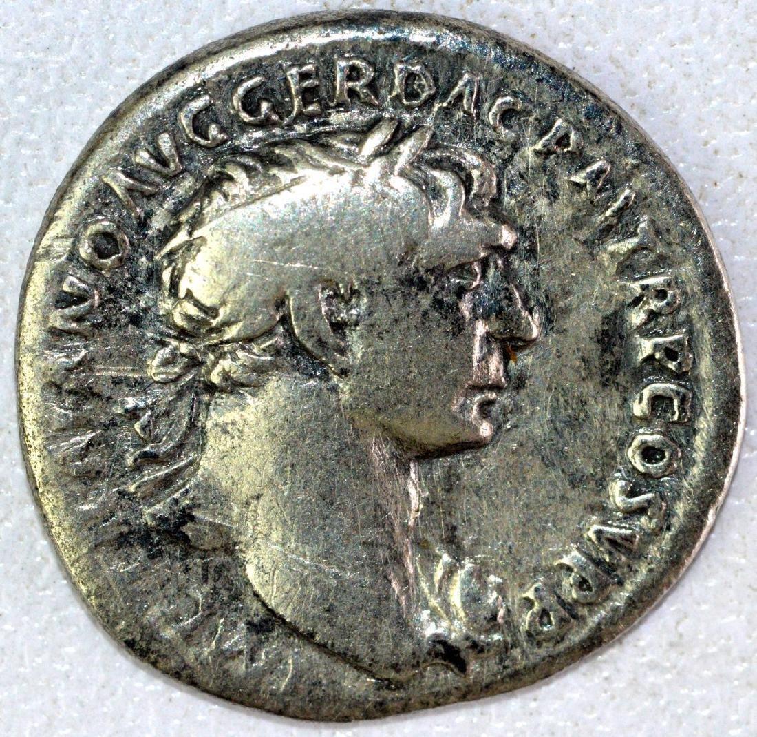 Ancient Roman Denarius of Trajan