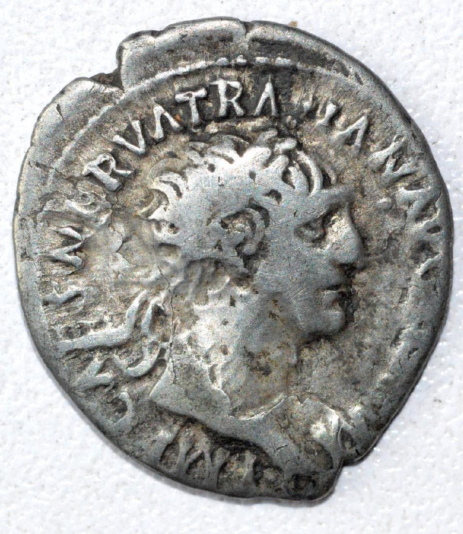 Ancient Roman Denarius Coin - Trajan