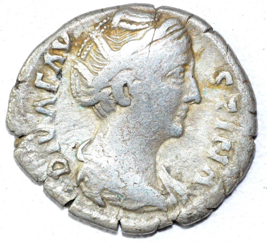 Ancient Roman Denarius Coin - Faustina