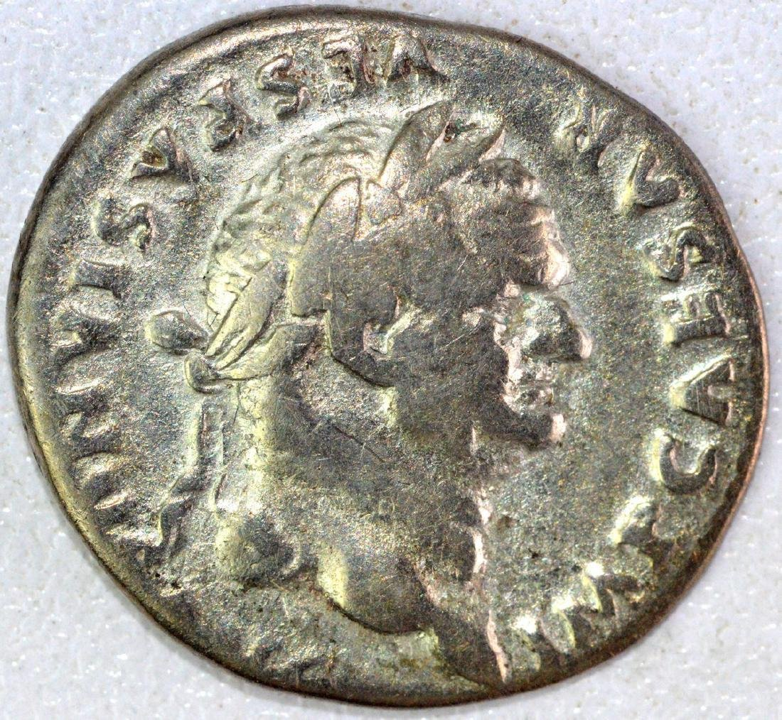 Ancient Roman Denarius of Vespasian