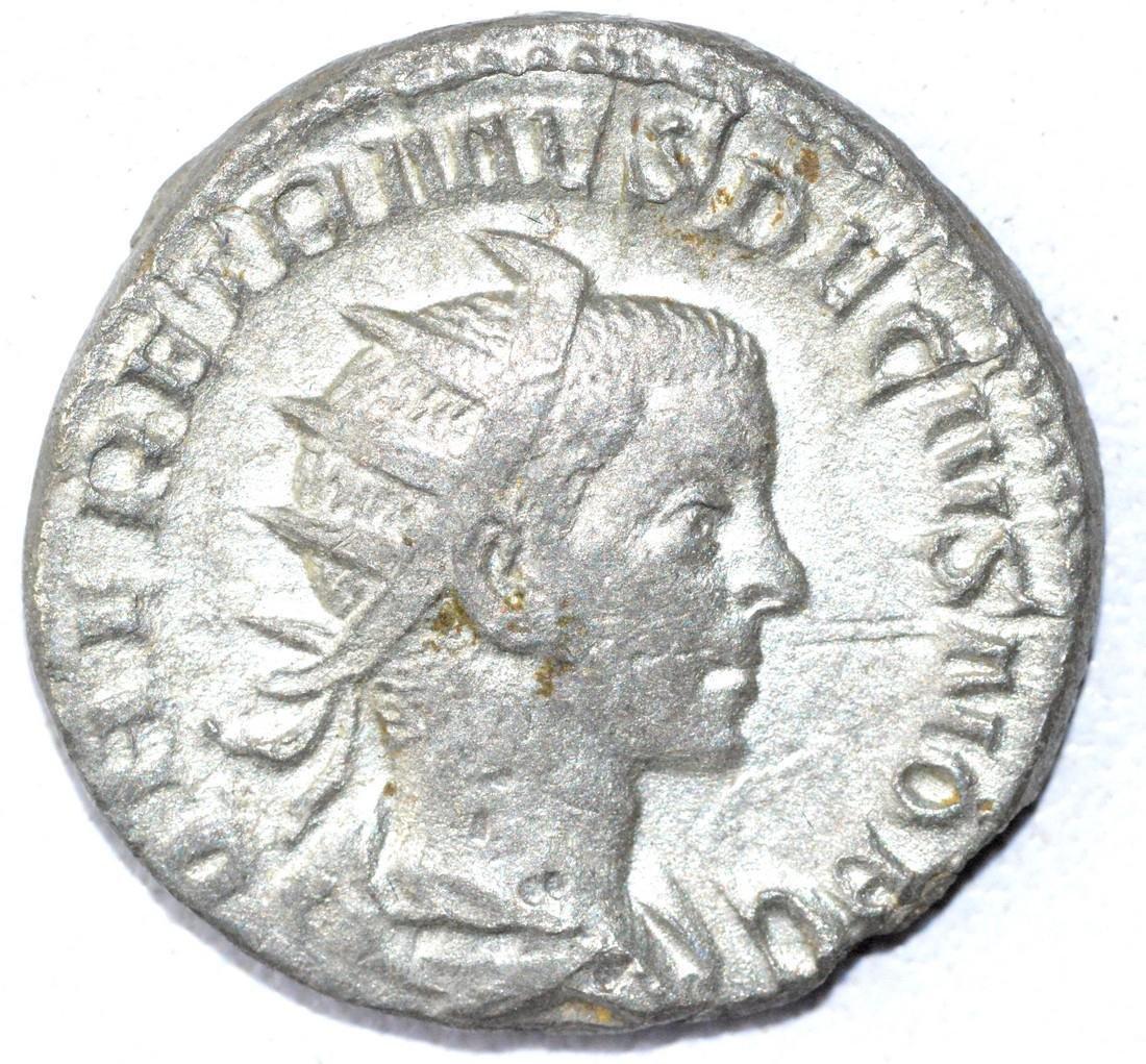 Rare Ancient Roman Antoninianus Coin - Herennius