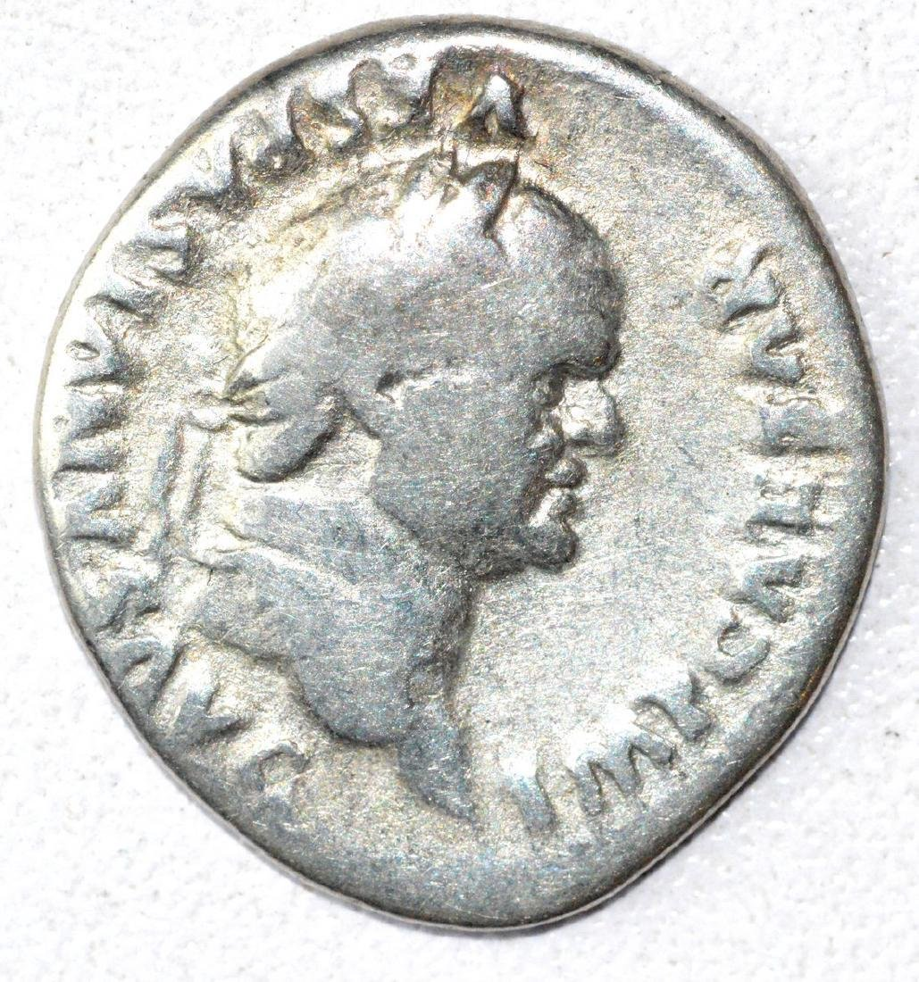 Rare Ancient Roman Denarius Coin - Vespasian