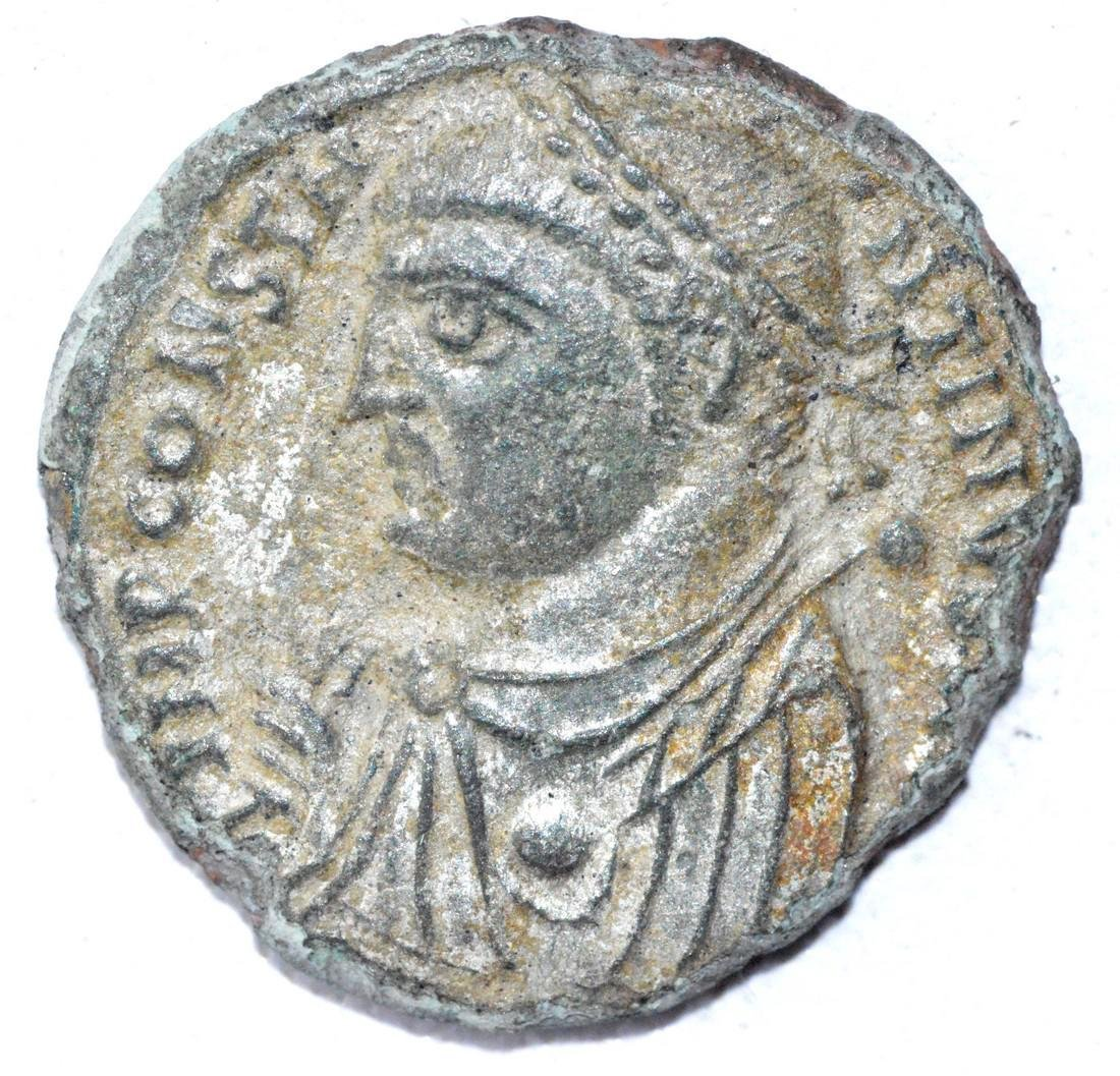 Ancient Roman Silvered Follis Coin - Licinius