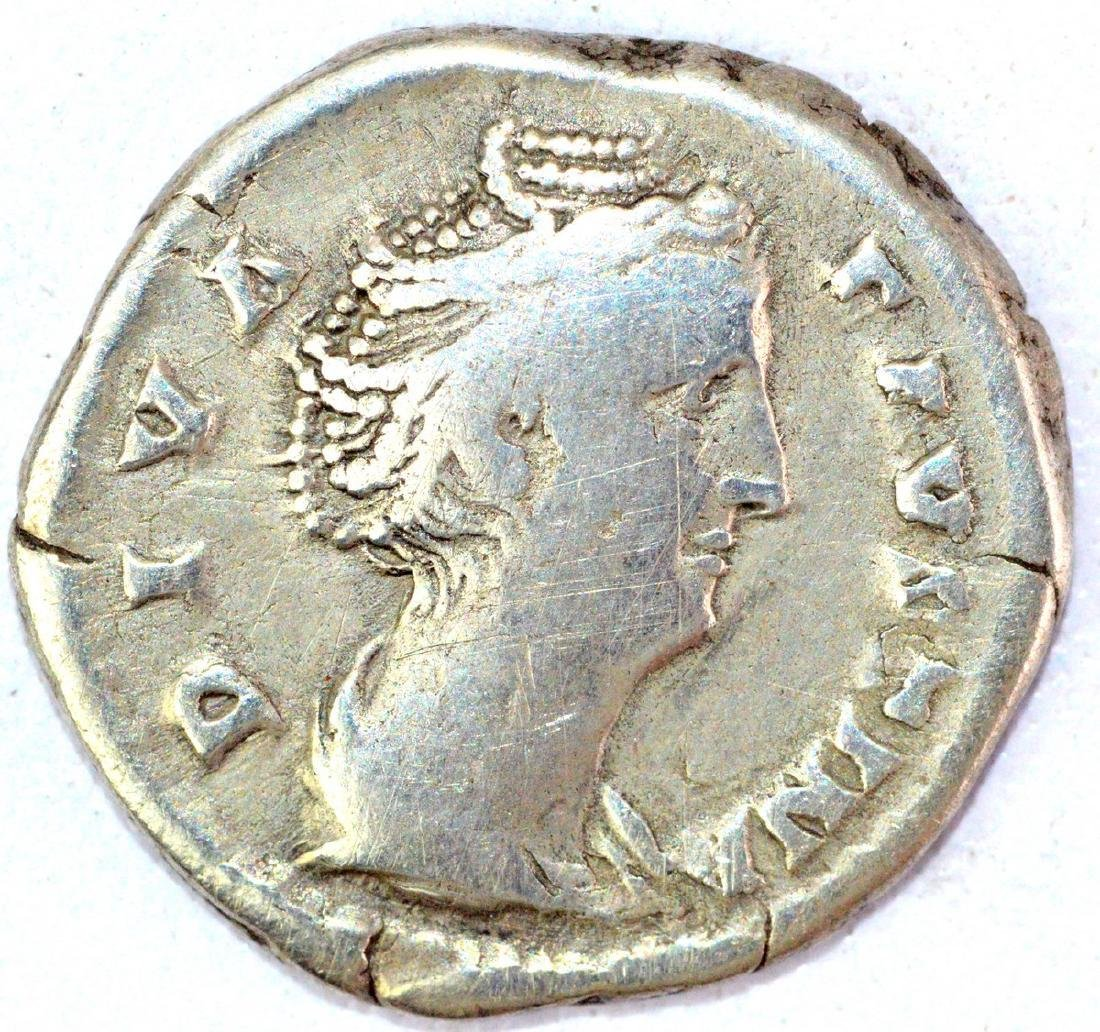 Ancient Roman Denarius of Faustina