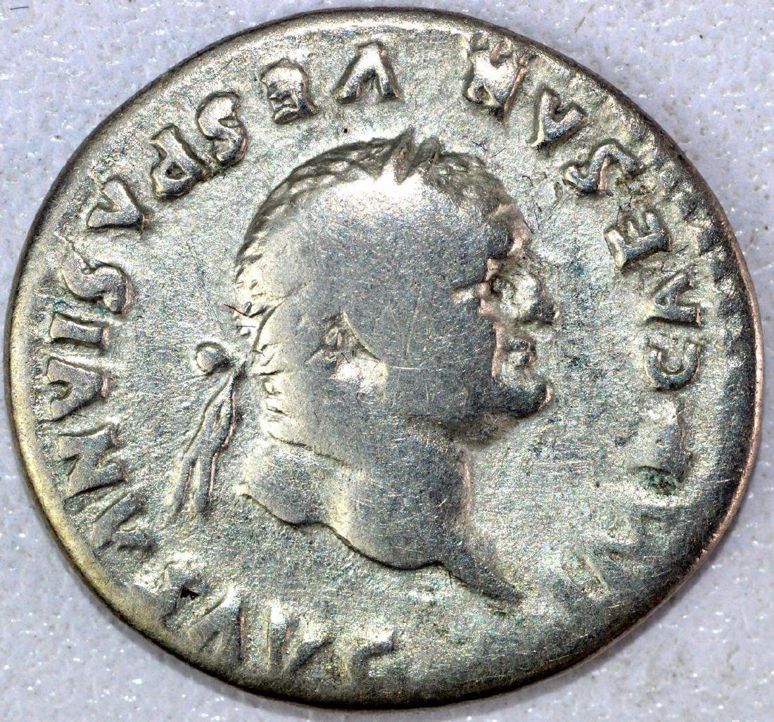 Ancient Roman Denarius of Vespasian