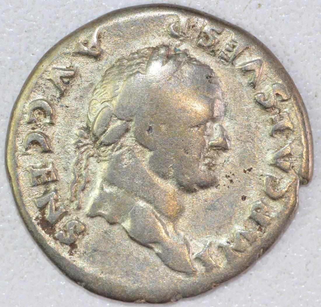 Rare Ancient Roman Denarius of Vespasian
