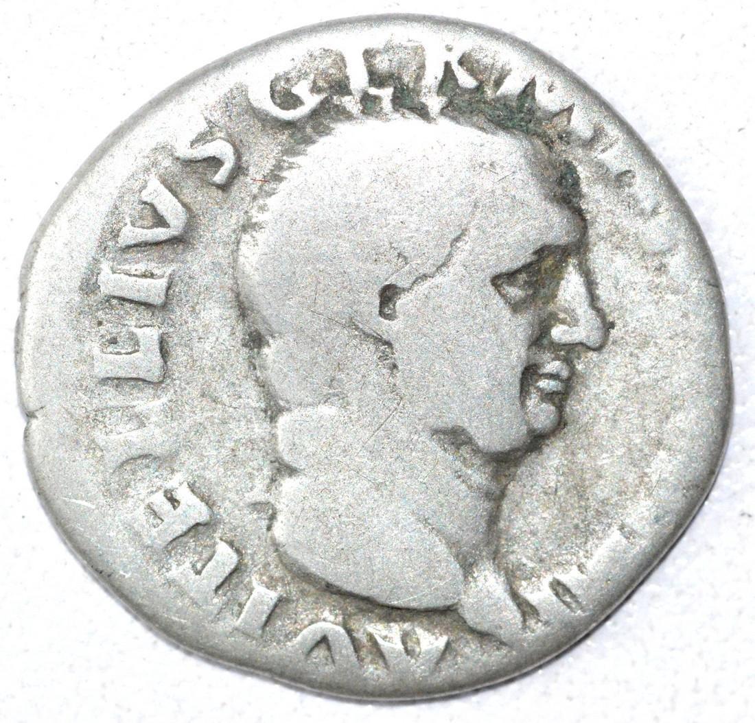 Rare Ancient Roman Denarius Coin - Vitellius