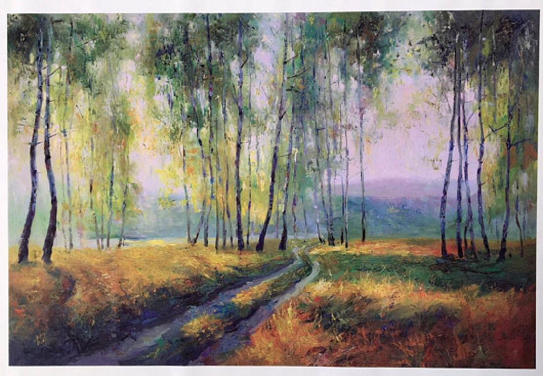 Path through the Birches by Vitaly Mikhailov