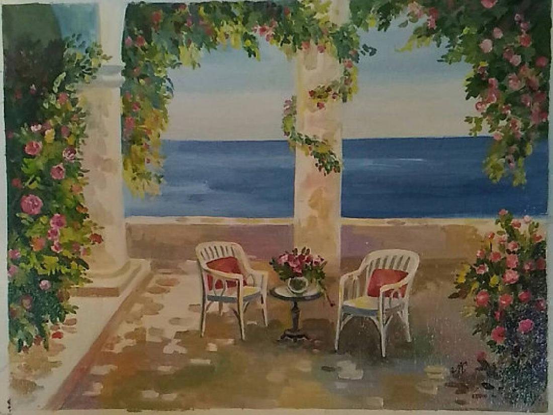 Veranda by the Sea by Ludmila Koydan