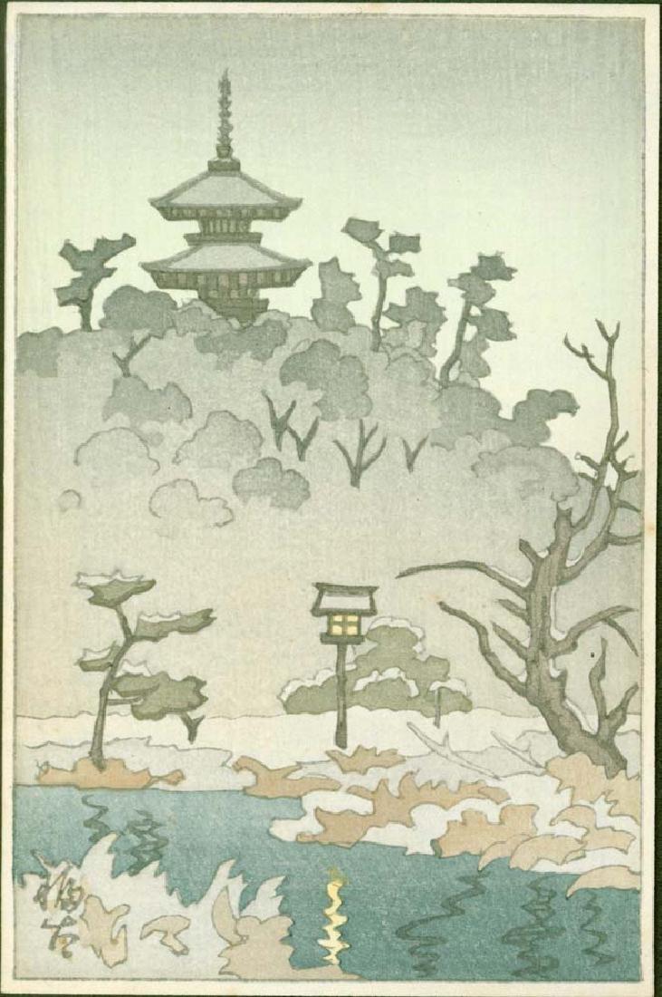 Fukuta Woodblock Sarusawa Pond in Nara