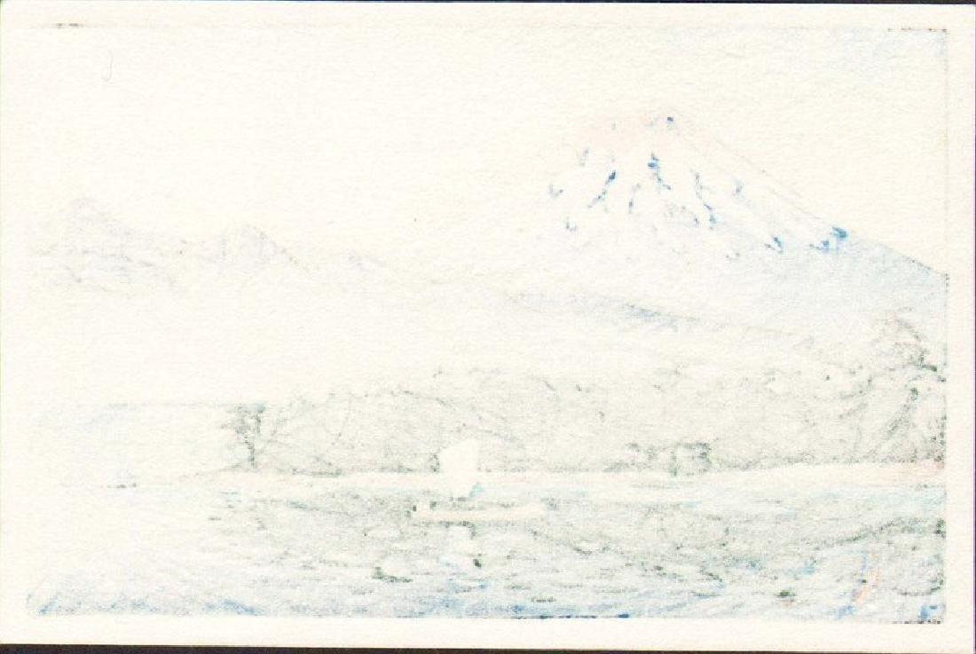 Kawase Hasui Woodblock Mt. Fuji with Sailboat - 2