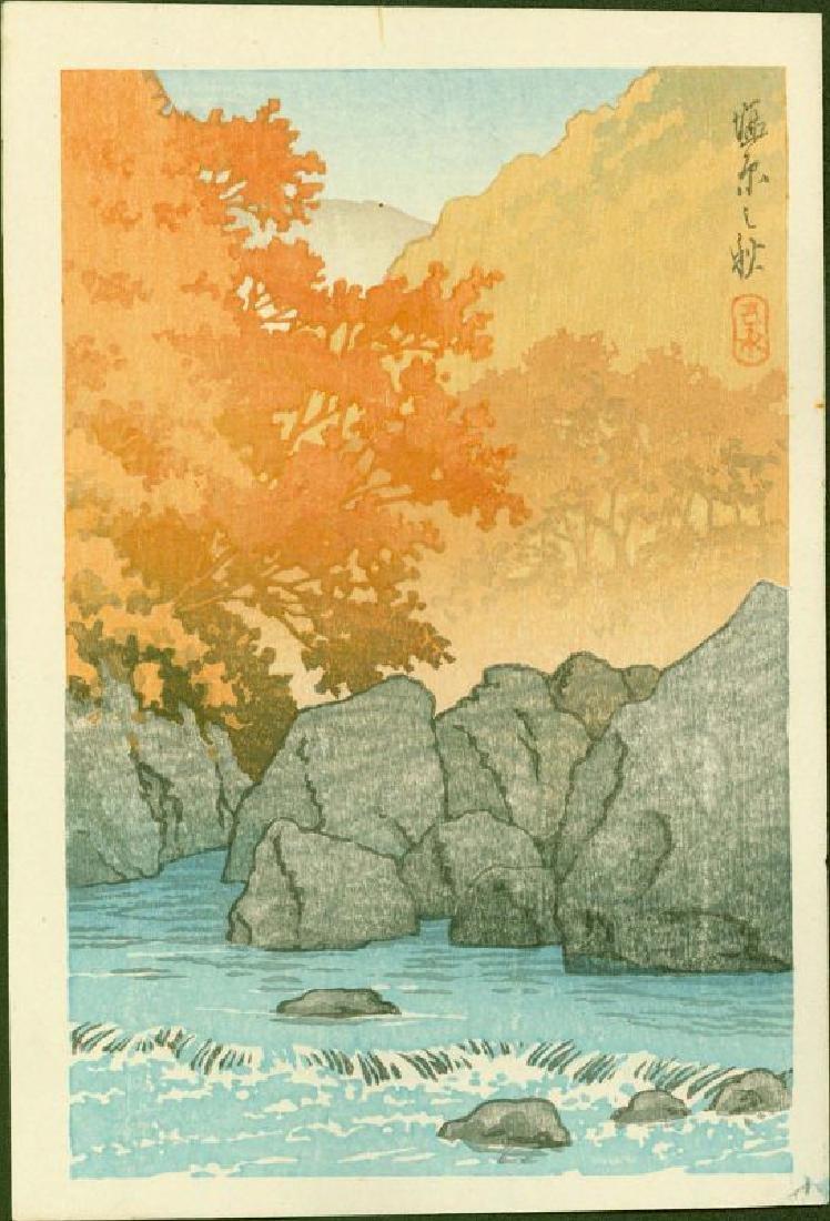 Kawase Hasui Woodblock Autumn at Shiobara