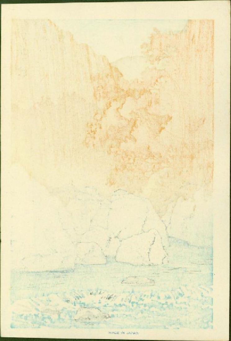Kawase Hasui Woodblock Autumn at Shiobara - 2