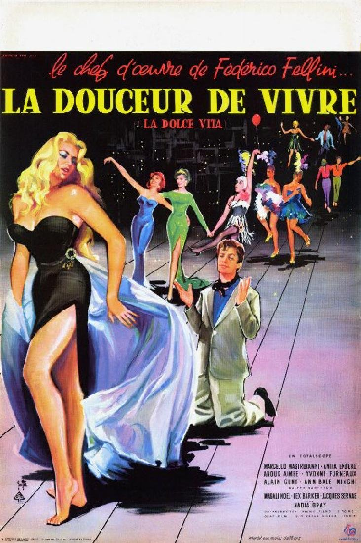 Movie poster - LA DOLCE VITA - Federico FELLINI - 1959