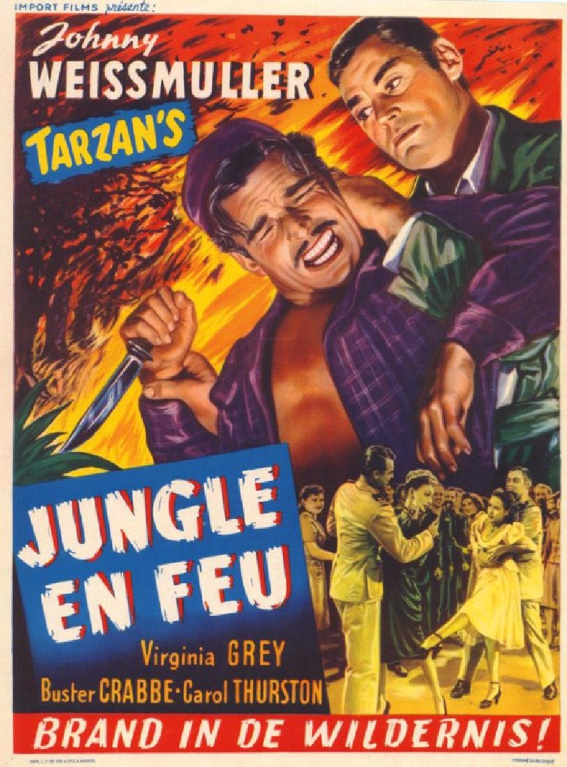 Movie poster - SWAMP FIRE - Johny WEISSMULLER - 1946