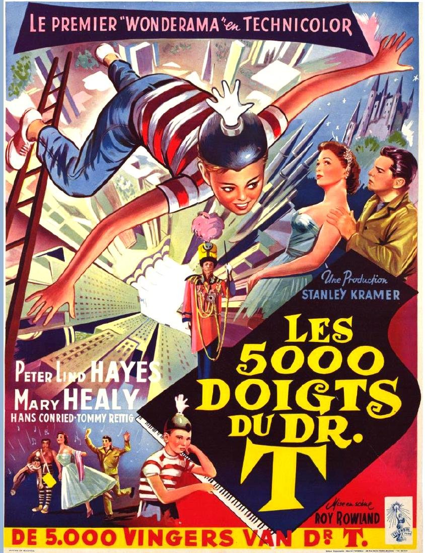 Movie poster - The 5000 FINGERS OF DR. T - 1954