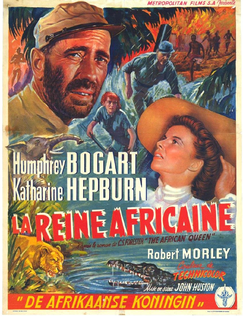 Movie poster - The African Queen - John Huston - 1951
