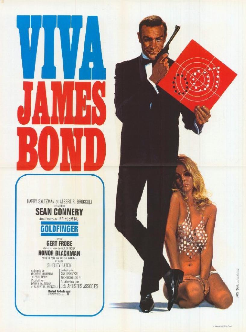 Movie poster - GOLDFINGER - James BOND - 1964