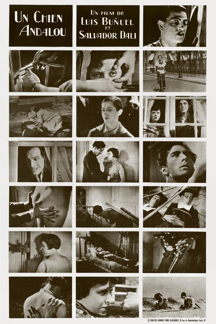 Movie poster - UN CHIEN ANDALOU - Luis BUNUEL - 1929