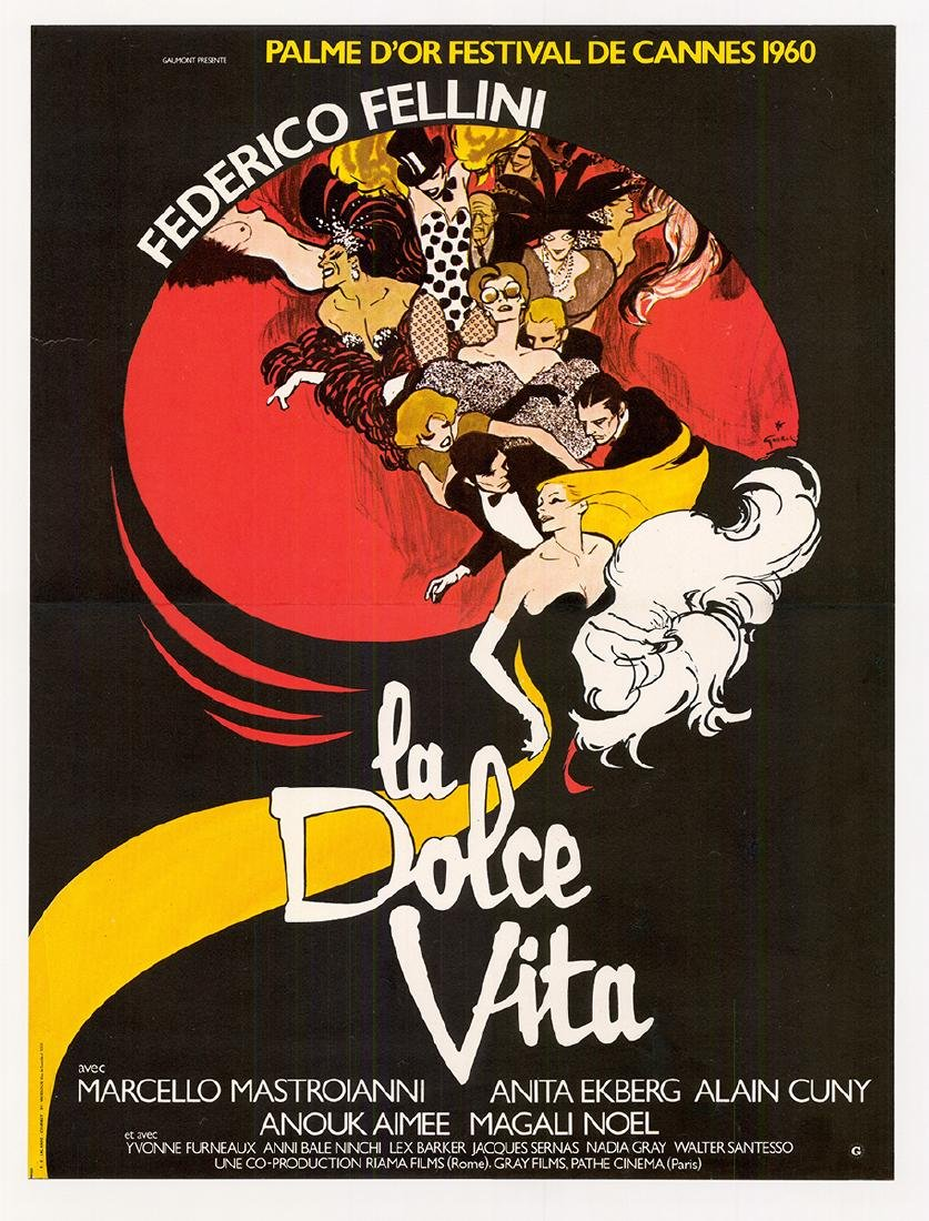 Movie poster - LA DOLCE VITA - Federico FELLINI - 1959