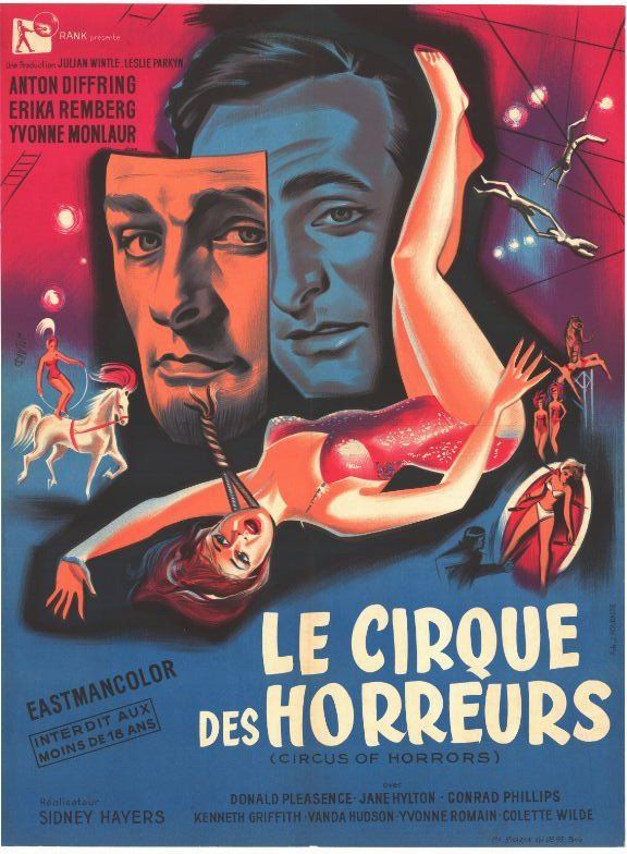 Movie poster - CIRCUS OF HORRORS - Sidney HAYERS - 1960