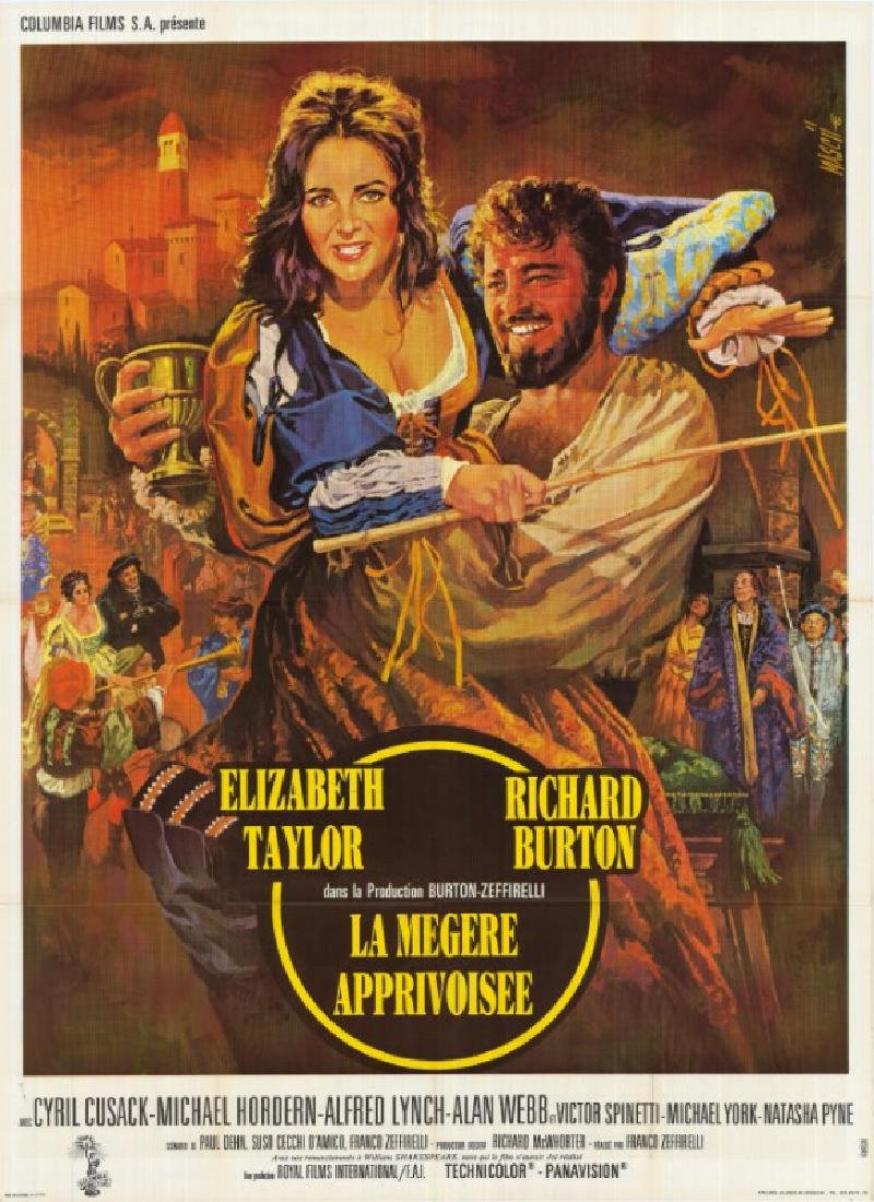 Movie poster - TAMING OF THE SHREW - Franco ZEFFIRELLI
