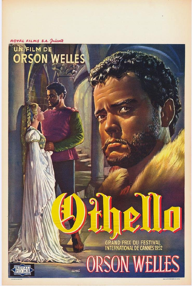 Movie poster - OTHELLO - Orson WELLES - 1952