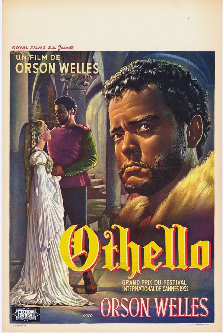 Movie poster - OTHELLO - Orson WELLES - 1952