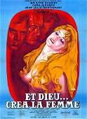 Movie poster  ET DIEU CREA LA FEMME  Brigitte BARDOT