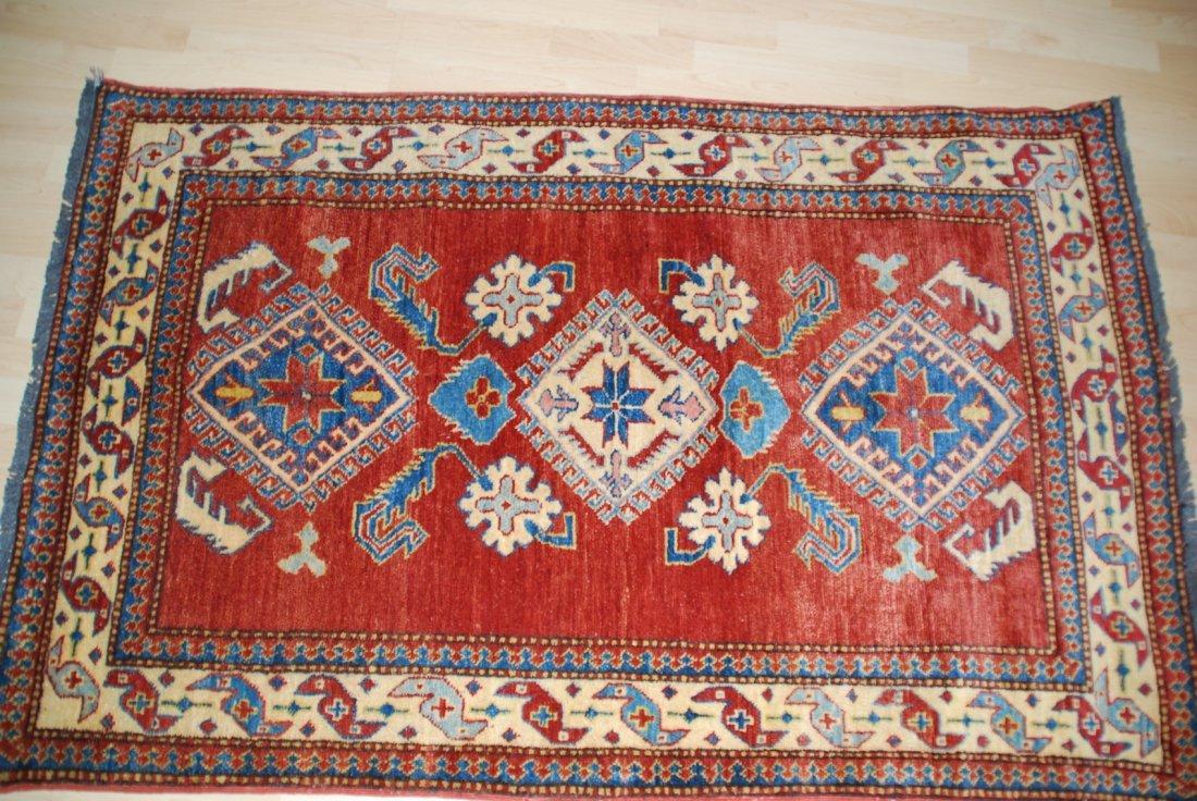 Vintage Kazak Carpet Rug 5.3x3.6