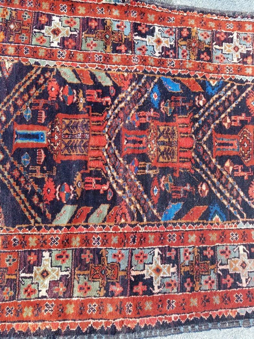 Antique Persian Tribal, With Primitive Motif Rug - 3