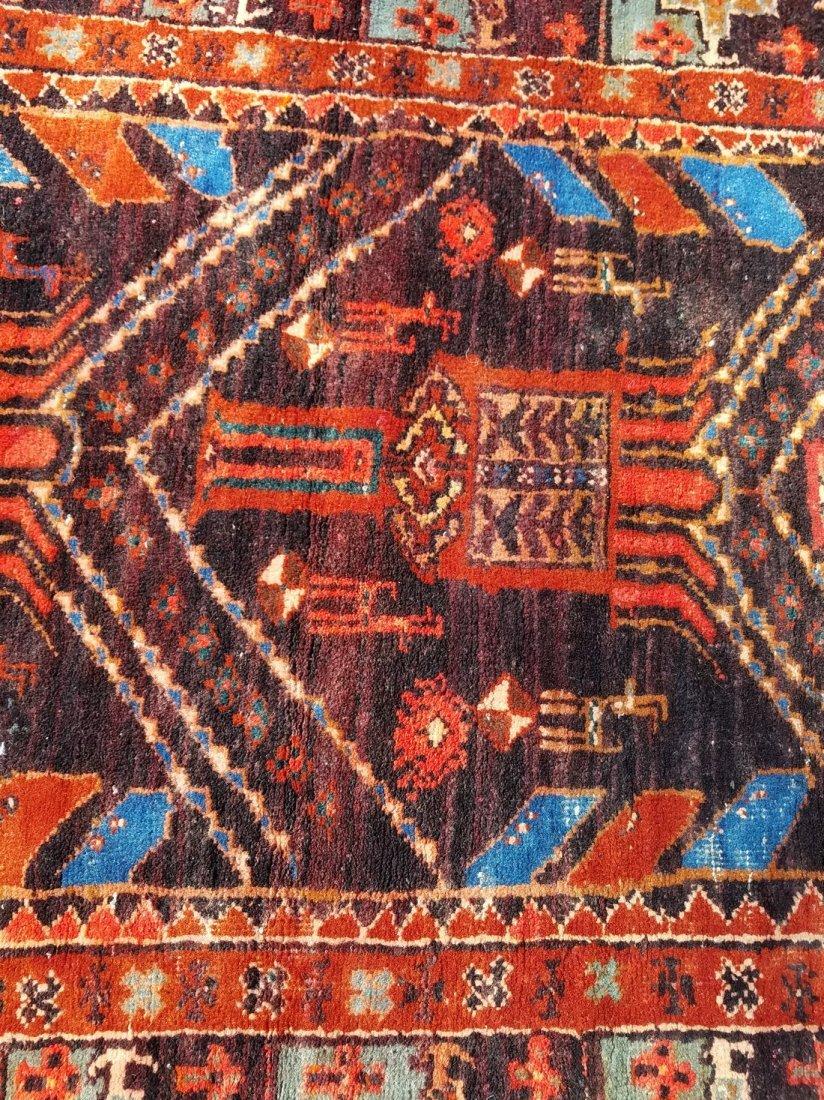 Antique Persian Tribal, With Primitive Motif Rug - 4